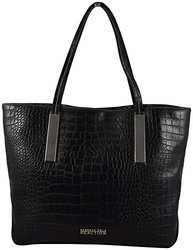 Kenneth Cole Inga Croco Tote - Black - Size: One Size