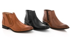 Adolfo Men's Dress Boots: Black/8