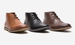 Oak Rush PU Chukka Boot JR065A - Brown - Size: 9