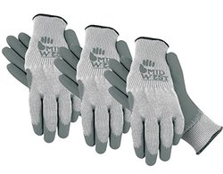 Midwest Gloves and Gear - Lined Gripping Glove - Grey - Large - 1 Pair