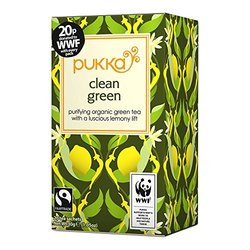 Pukka Herbal Ayurveda Organic Clean Green Tea - 20Bags