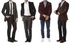 Alberto Cardinali Tailored Fit Sports Blazer: Black/48r