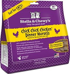 Stella & Chewy's Pouch Freeze-Dried Raw Chick, Chicken Dinner for Cats, 9 oz