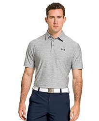 Under Armour Men's Performance Polo Shirt: Heather Elevated-gray-black/xl