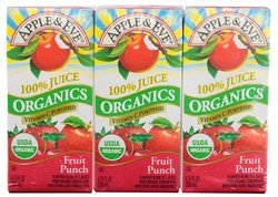 Apple and Eve Organic Fruit Punch Juice - 200 Milliliter - 27 Case