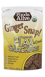 Foods Alive - Organic Flax Crackers Ginger Snap - 4Oz