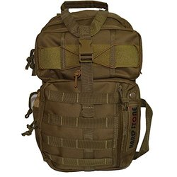 Every Day Carry Tactical Hydration Pack Ready Backpack with MOLLE & Chest Strap - Tan