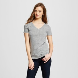 Mossimo Women's Short Sleeve Tee Shirt - Gray - Size: XS