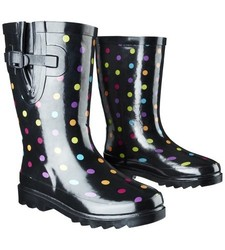 Western Chief Girl's Molly Rain Boots - Black - Size: 2