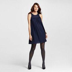 Liz Lange Women's Dark Shadow Maternity Striped Gauze Dress - Blue - S/L