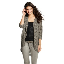 Mossimo Women_s Cocoon Cardigan - Black/Ivory - Size: Medium