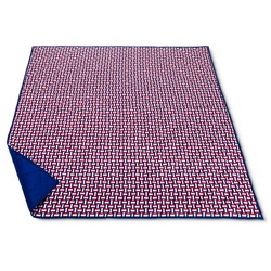 Summer 2-Person Basket Weave Pattern Picnic Blanket - Red/White/Blue