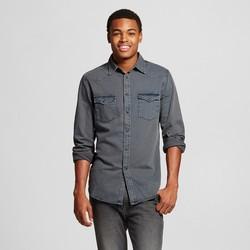 Mossimo Men's Long Sleeve Denim Shirts - Smokestone - Size: Small