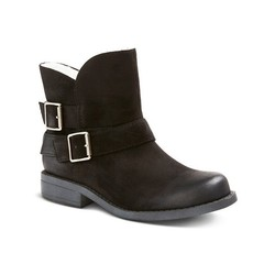 Mossimo Women's Tawny Shearling Ankle Boots - Black - Size: 9.5