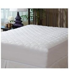 MASTERTEX Fitted Quilted Mattress Pad Cover - White - Size: King