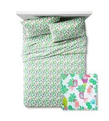Pillowfort 4-Piece Parakeet Paradise Bed Sheet Set - Multi - Size: Full