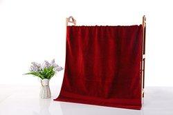 "JML 500gsm Egyptian Cotton Bath Towels 4 Piece Set 27"" X 54"", Bath Towels Set, Super Soft & Absorbent Bath Towels (27"" x 54"", Red)"