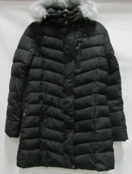 Spire By Galaxy Women's Quilted Bubble Jacket - Black - Size: Large