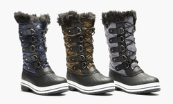 Sociology Sophia Cold Weather Quilted Winter Boot: Navy/8
