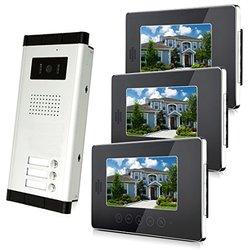 """Amocam 7"""" LCD Monitor Wired Video Intercom Doorbell System (V70T-520-3)"""
