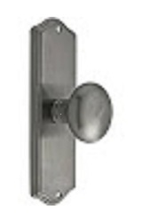 Emtek Colonial Revival Door Set with Knob - Antique Pewter Passage