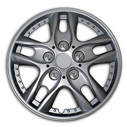 TuningPros WSC2-001S16 Hubcaps Wheel Skin Cover Type 2 16-Inches Silver Set of 4