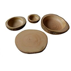 roro Hand-Crafted Party-in-A-Box Made from Sustainable Wood, Serving Tray, Chip, Guacamole, Dip Bowl, 4 Piece
