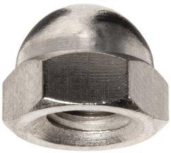 Small Parts Brass Acorn Nut - Nickel Plated Finish 10PK - Grade 5
