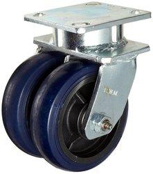 RWM Casters Economy Plate Caster Phenolic Wheel Roller Bearing
