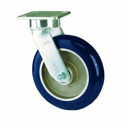 RWM Casters Plate Caster Urethane on Aluminum Wheel Ball Bearing