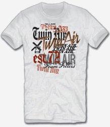 Twin Air Varied Fonts Short Sleeve T-Shirt - Gray - Size: Small
