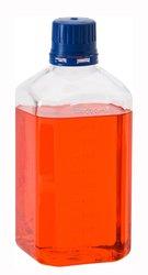 Chemglass PETG Square Sterile Graduated Media Bottle - Size: 30ML