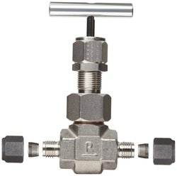 Parker U 316 High Temperature Needle Valve - SS - Inline - Size: 1/4""