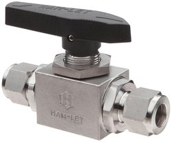 Ham Let H6800 Series Steel Ball Valve Let Lok Fitting - Size: 3/8""