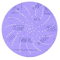 3M Clean Sanding Disc 360L with Hook & Loop Attachment - Purple