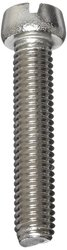 Small Parts Plain Finish 18-8 Stainless Steel Machine Screw - Size: 1""