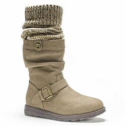 Flattering Sky Boots With Belt Wrap For Women: Taupe/size10
