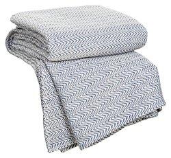 Chevron 100% Egyptian Cotton Blanket: Blue/king