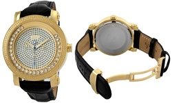 JBW Hendrix Men's Diamond Watch in Gold Plated Stainless Steel