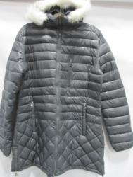 Spire by Galaxy Women's Puffer Jacket & Detachable Trim - Grey - Size: XL