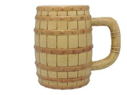 Essence of Europe Gifts E.H.G Oktoberfest Beer Barrel Ceramic Beer Stein