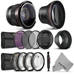 58mm Starter Accessory Kit For Canon Eos Rebel (t6i T6s T5i T4i T3i T3 T2i T1i Xt Xti Xsi Sl1) - Includes: Altura Photo 0.43x Wide Angle & Altura Photo 0.35x Wide Angle Fisheye Lenses + Vivitar Filter Kit (uv, Cpl, Fld) + Vivitar Macro Close-up Set + Coll