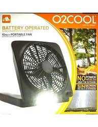 "10"" Portable Fan, Can Use Batteries or Adapter,Ventilador portatil de 25, 40 cm"
