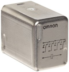 Omron MY4ZH-US AC110/120 Hermetically Sealed Relay, Class 1 Division 2 Approval, Plug-In Socket/Solder Terminal, Quadruple Pole Double Throw Bifurcated Contacts, 9.9 to 10.8 mA at 50 Hz and 8.49 to 9.2 mA at 60 Hz Rated Load Current, 110 to 120 VAC Rated