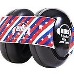Em's 4 Bubs Hearing Protection Baby Earmuffs (black With Stars N Stripes)