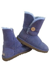 Ugg Australia Bailey Button Women US 8 Purple Winter Boot