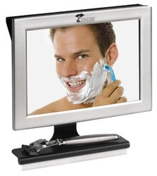 ToiletTree TTP-01 Fogless Shower Mirror with Squeegee and Shelf