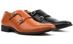 Royal Men's Monk Strap Dress Shoes - Black - Size: 13