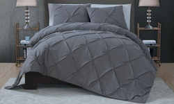 Avondale Manor Ella 3-Piece Quilt Set - Grey - Size: Queen