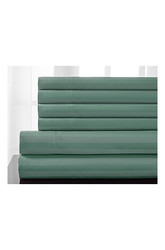 600tc Woven 6-piece Stripe Cotton Sheet Set: Seaglass/queen